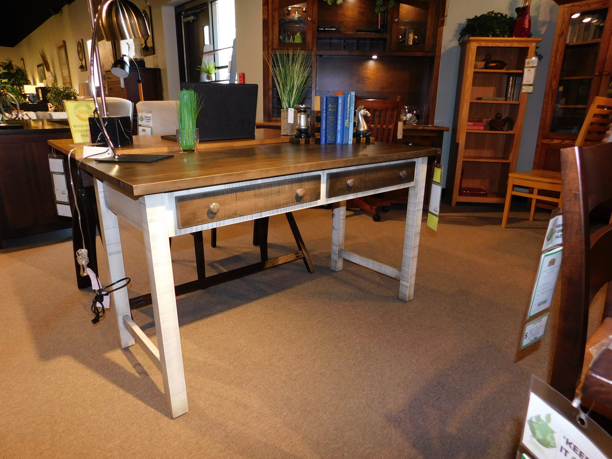 Urbana Writing Desk, Roughsawn With Plank Top Wood Species Shown: Brown  Maple / Rustic