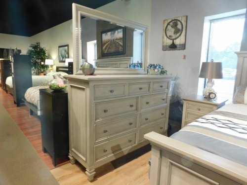 Legacy Village Tall Dresser and Mirror
