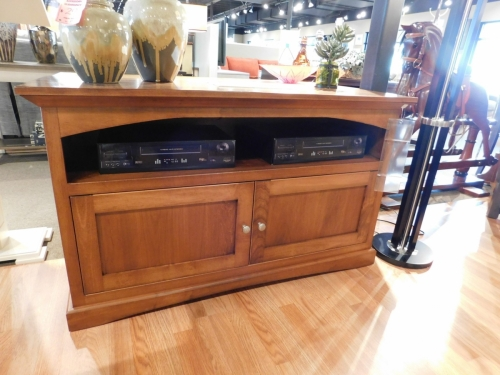 Shaker TV Stand with Wood Doors