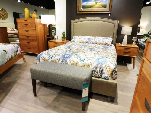 Kenton Mid-Century Modern Bedroom Collection with Gabrielle Upholstered Bed