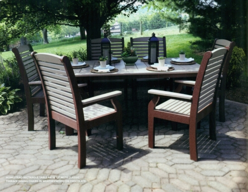 Homestead Adirondack Dining Set with Table and Chairs