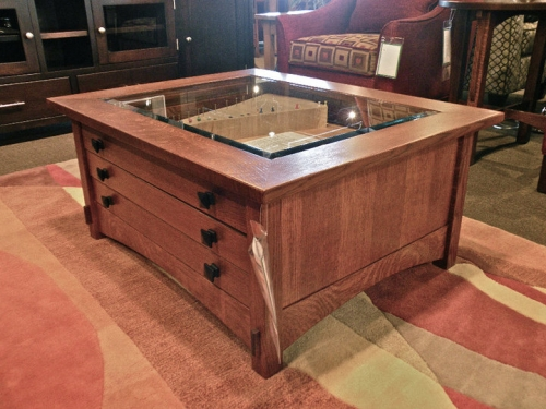 Display Compartment Coffee Table