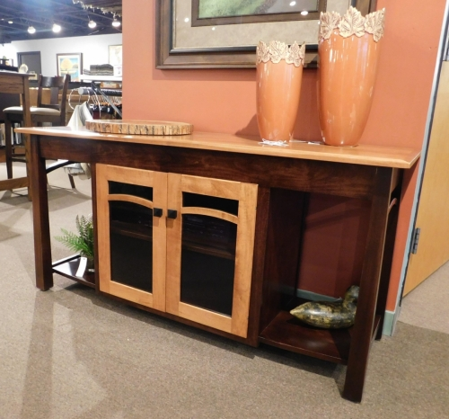 Madison TV Stand with Bow and 2 Doors with Glass