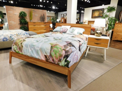 Kenton Mid-Century Modern Bedroom Collection with Urbana Platform Bed