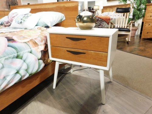 Kenton 2-Drawer Nightstand with Painted Case and Legs
