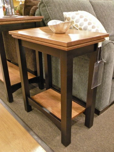 Two-Tone Shaker Chairside Table