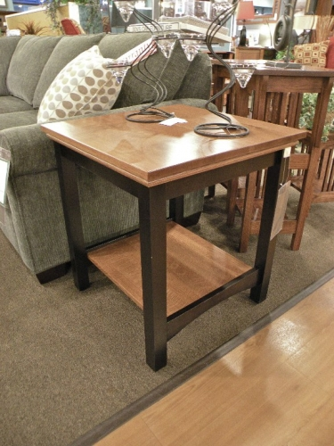 Two-Tone Shaker End Table