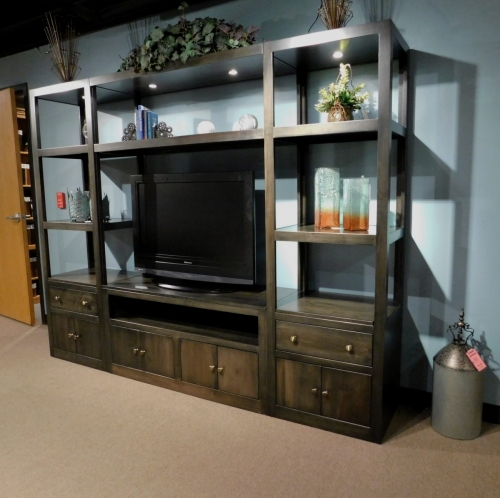 Modern Entertainment Center - 4 Piece Set