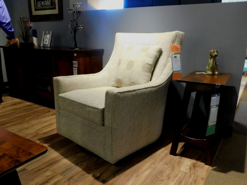 Penny Swivel / Glider Chair and Pillow