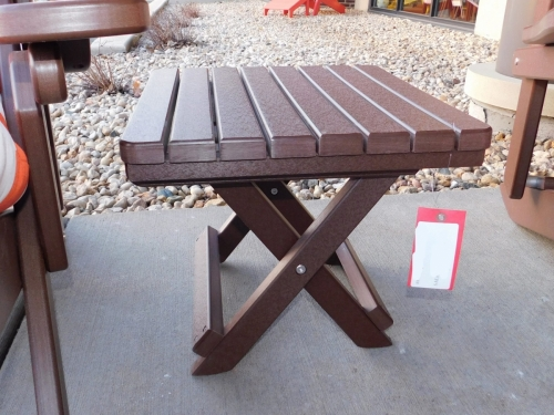 Brown Folding Table