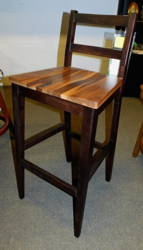 EC Woodshop - Silverado Bar Chair with Wood Seat