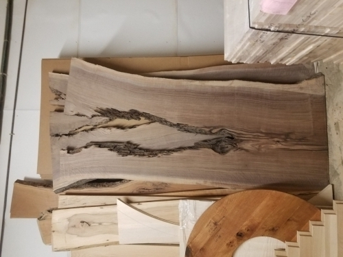 SOLD Unfinished Walnut Slab