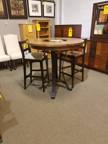 Salt Creek Tables - Round Golden Gate Bar Table