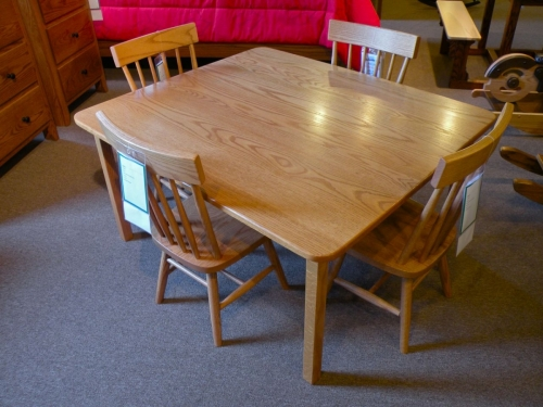 Child's Large Square Table with Square Legs
