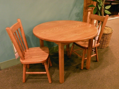 Child's Round Table with Square Legs