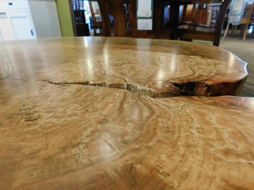 Spalted Maple Round Slab Coffee Table