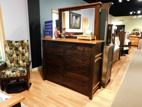 Madison Bow Tall Dresser and Mirror