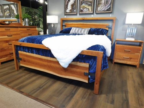 Westmere Bed with Live Edge Panels