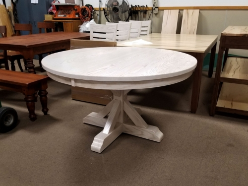 """54"""" Round Alberta Table with Solid Top"""