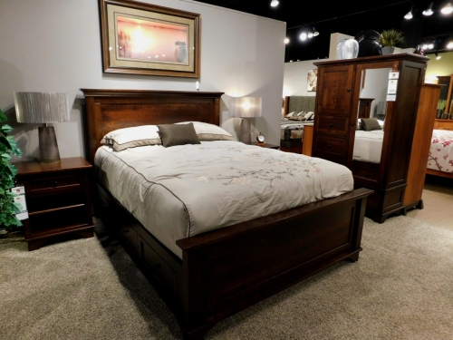 Arlington Panel Bed with Storage Drawers on Sides