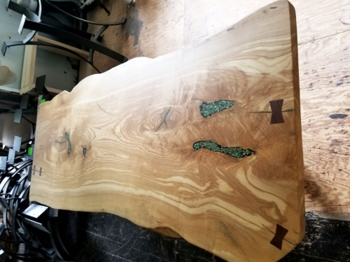 SOLD Custom Black Ash Slab Island Top