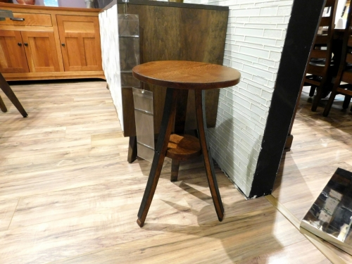 Wine Barrel Plant Stand or End Table