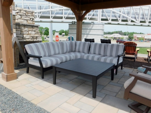 Classic Terrace Sectional and Square Coffee Table