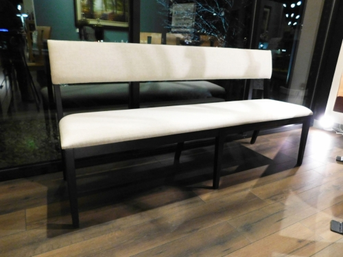 Chevron Bench with Padded Back and Seat