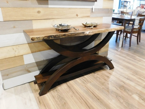 Gateway Sofa Table with Live Edge Top