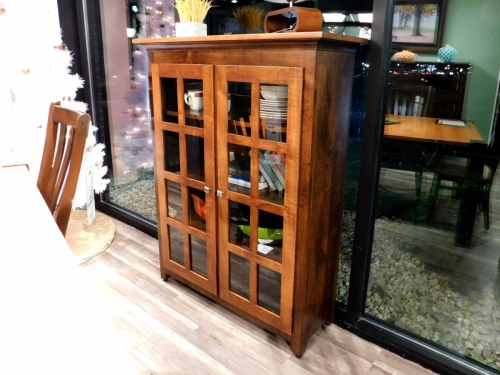 Mission Bookcase with 2 Glass Doors