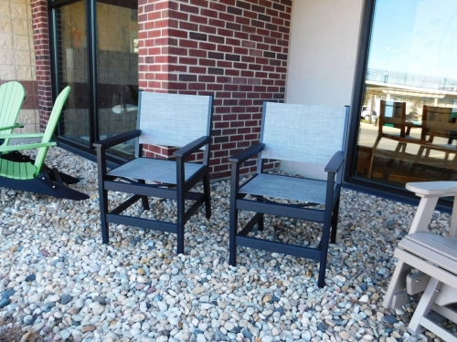 Mayhew Outdoor Sling-Back Dining Chairs