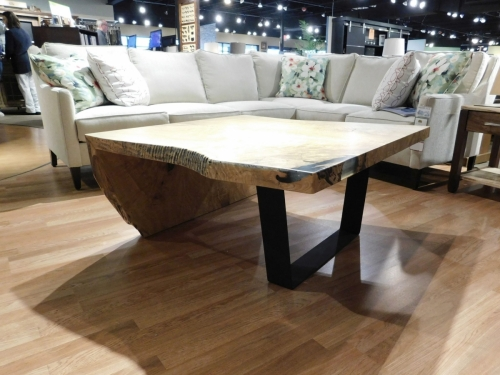 SOLD Custom Waterfall Coffee Table