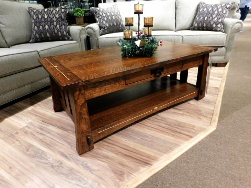 Mesa Coffee Table with Inlay