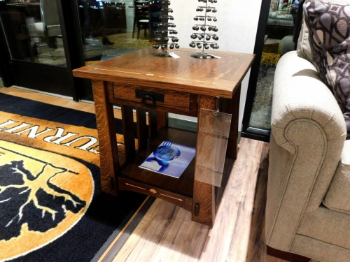 Mesa End Table with Inlay