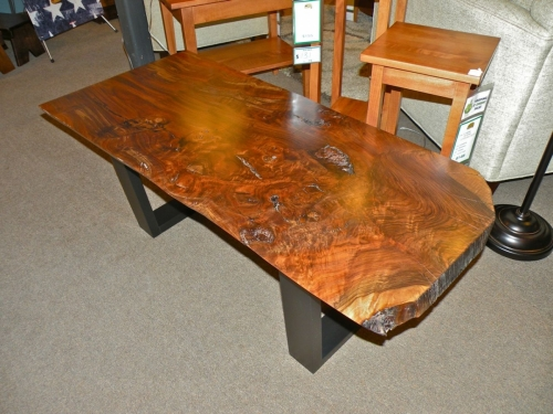 SOLD Burl Coffee Tables