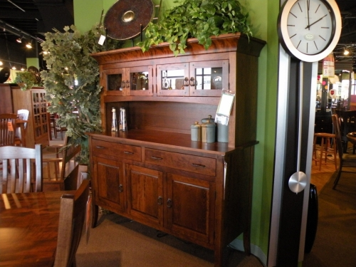 3-Door, 2-Drawer Hutch with Short Topper