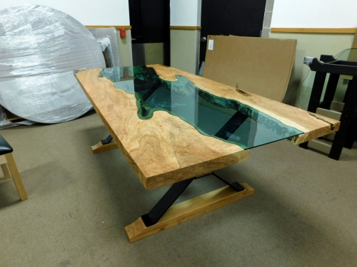 SOLD Brown Maple River Table