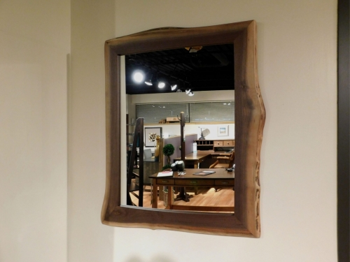 Live Edge Rectangular Wall Mirror