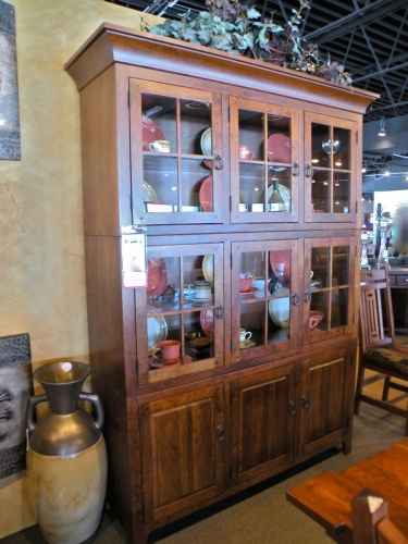 Stacking Grid Cabinet Hutch