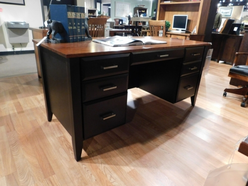 Westbury Bowed Top Executive Desk